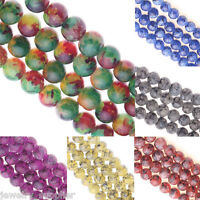 25/50Pcs Czech Glass Round Loose Charms Crafts Jewelry Making Spacer Beads 8mm