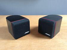 2 X BOSE BLACK SINGLE REDLINE CUBE ACOUSTIMASS 3 LIFESTYLE AV18 T10 SPEAKERS