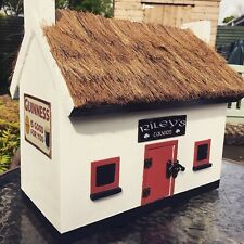 Irish Pub / Cottage Style Birdhouse With Thatched Roof By Old Dakota