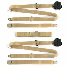 Desoto 1946 - 1961  Standard 3pt Tan Retractable Bench Seat Belt Kit - 3 Belts