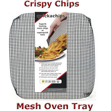 Quickachips Mesh Oven Chip Tray Non-Stick BBQ Grill Basket for Crispy Cooking