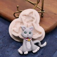 Silicone Cat Animal  Chocolate Sugarcraft Mould Cake Decor Topper Baking Mold 3D