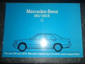 Mercedes 190 190E  brochure Sep 1983