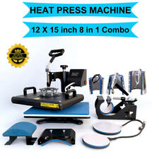 Combo 8in1 Heat Press Machine Swing Away Digital Sublimation T Shirt Mug Plate