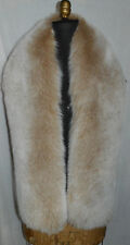 Real Snow Top Fox Fur Scarf Boa Collar Wrap Stole Fling New Made in the USA