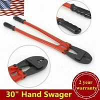 "30"" Hand Swager, Swaging Crimping Tool fits 5/32"" 1/4"" 5/16"" Wire Rope Cable"