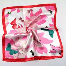 Fashion Elegant Designs Silk Satin Feel Ladies Small Square Head Neck Scarf