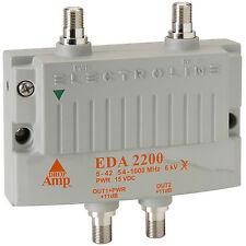 Electroline EDA2200 2-port Low Noise CATV Amplifier +11dB