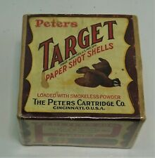 Peters Target 20 Ga. 2pc. Shotshell Box with Flying Quail, Empty