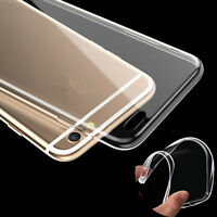 For iPhone 6 6S Plus Silicone TPU Ultra Thin Slim Clear Transparent Cover Case