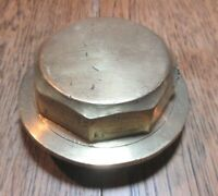 ANTIQUE BRASS CARRIAGE COACH CART  WHEEL HUB NUT UNNAMED