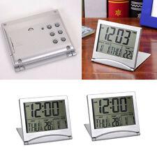 Digital LCD Wetterstation Folding Schreibtisch Temperatur Reisewecker groß
