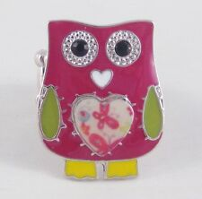New Adorable & Fun Colorful Owl Stretch Ring #R1151