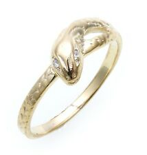 Schlangenring echt Gold 333 mit Zirkonia Ring Schlange Gelbgold Unisex 8kt