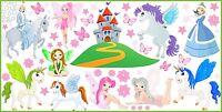 WANDTATTOO Prinzessin Elfen Zephir Schmetterlinge Sterne Aufkleber SET 4