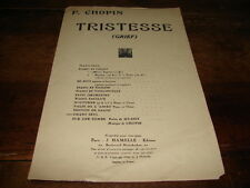 FREDERIC CHOPIN - Partition TRISTESSE !!!!!!!!!!