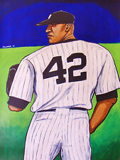 MARIANO RIVERA PAINTING new york yankees baseball pitcher world series stadium