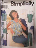 7503 Simplicity SEWING Pattern Misses Vintage Jacket Top Pants UNCUT OOP SEW FF