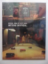 2004 Print Ad Jack Daniel's Tennessee Whiskey ~ Shuffle Board Bar Game