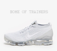 Nike Air Vapormax Flyknit 3 White Grey Men's Trainers All Sizes Limited Stock