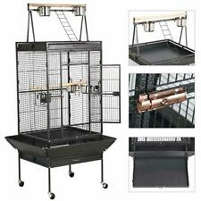 68''Large Bird Breeding Cage Aviary for Cockatoo Parrot Finch w/ Perch Cockatiel