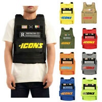 Hudson Icons Vest Black Yellow Beige Olive Red Orange Grey Royal Blue Neon Green