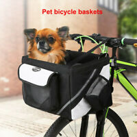 NEW 600D Oxford Bicycle Handlebar Basket Front Bag Box Pet Dog Cat Carrier Case
