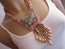 b56e64458535 Damen Collier Hals Kette Modekette kurz Modeschmuck Ethno Boho Ibiza  Bohemian K9