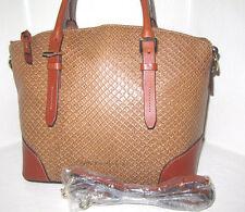 Dooney & Bourke Tan & saddle Python Embossed Leather Domed Satchel Bag NWT $328