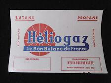 """Buvard publicitaire Ancien """"Héliogaz Le bon Butane de France"""" Old french blotter"""