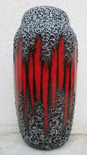 Scheurich Keramik Vase rot glasierter Kerbschnitt und Lava Glasur Markung242-22
