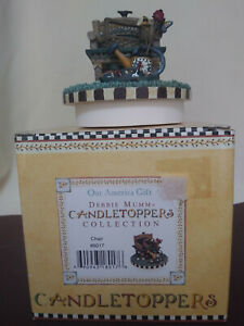 Our America Yankee Candle * Debbie Mum * Candle Topper * Summer Garden Theme
