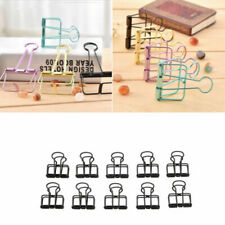 10pcs Binder Clips File Note Paper Photo Letters Documents Stationery Organizer