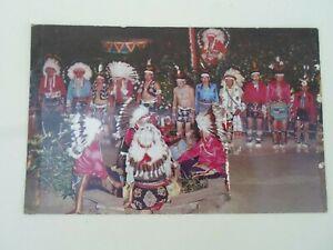 Winnebago Indian Drummers At Stand Rock Indian Ceremonial Retro Postcard §ZA702
