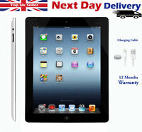 "Apple iPad 3rd, 4th Generation 16GB 32GB 64GB WiFi + 4G 9.7"" Retina Black/White"