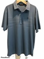 Travis Mathew Men's Short Sleeve Polyester Blue Polo Golf Shirt Size L