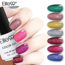 Elite99 Bling 7ml Neon Nail Gel Polish Colors Soak Off UV LED Glitter Gel DIY