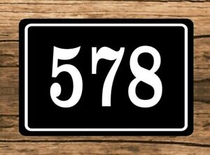"""Personalized Home Address Sign Aluminum 6"""" x 10"""" Custom House Number Plaque sq16"""