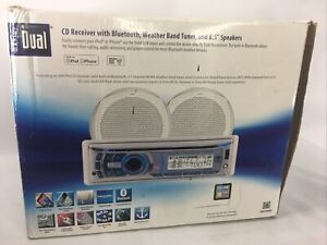 """Dual AMCP400W Marine CD Receiver with Weatherband Tuner and 6.5"""" Speakers New"""