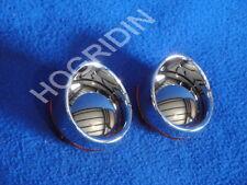 amber chrome bullet turn signal lens lenses visors harley softail sportster dyna