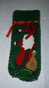 Flaschenwärmer Weihnachtsmann Flaschen Wärmer ca. 37 cm Länge Weihnachten