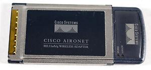 QTY 4 - 4X Cisco Aironet AIR-CB21AG-A-K9 801.11 Wireless Cardbus Laptop Adapter