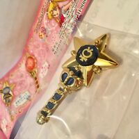 Bandai Sailor Moon Prism Crystal Makeup Stick Wand Keychain Mercury Blu Gashapon