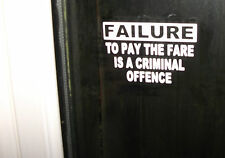 FAILURE TO PAY THE FARE TAXI VINYL GRAPHIC STICKERS set of 2
