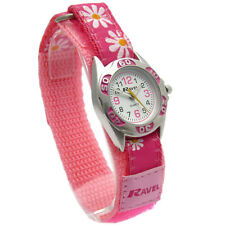 Ravel Girls Watch Kids Festival Flowers Design Hook & Loop Sport Strap 3 Colours