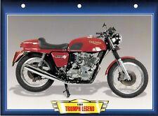 CARTE FICHE TECHNIQUE MOTO  / TRIUMPH LEGEND . 1984 .   NEUVE