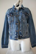 Abercrombie & Fitch Distressed Denim Jean Jacket Coat Women's XS Blue