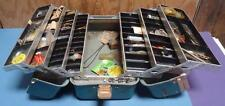 Vintage Green UMCO 1000U Tackle Box Full of Assorted Fishing Hooks Made in USA