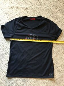 Terry Cycling Shirt Women's Size Medium Short Sleeve Dark Grey