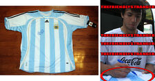 "SERGIO AGUERO signed ADIDAS ""ARGENTINA"" JERSEY - EXACT PROOF - World Cup COA"